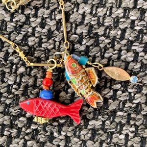 ❣️SALE Red Fish By the Sea Necklace